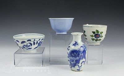 Lot Of Chinese Porcelain Bowls Cups Vases