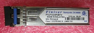 FINISAR FTLF1324P2BTV 1000Base LX Duplex 4Gb/s 1350nm SFP Transceiver Module