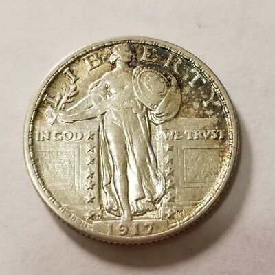 1917 D Type 2 Standing Liberty Quarter #3