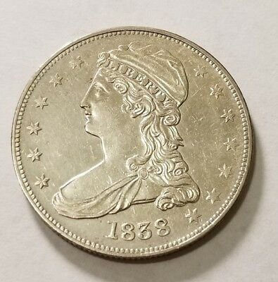 1838 Capped Bust Half Dollar REEDED EDGE #12