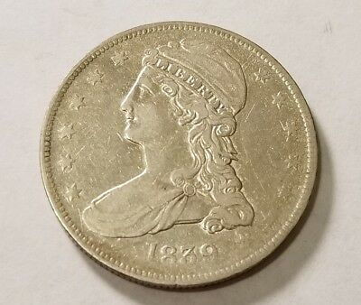 1839 Capped Bust Half Dollar REEDED EDGE #13