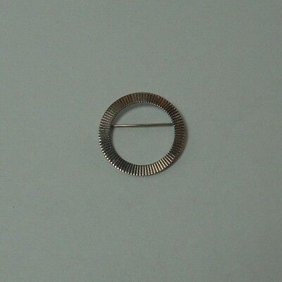 Vintage Designer Sterling Silver Napier Circle Brooch Pin - Estate Jewelry