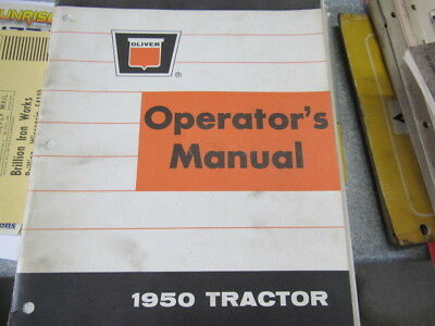 Oliver 1950 Tractor Operator's Manual