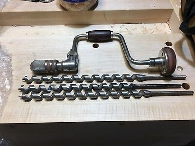 """Shipbuilders heavyweight brace and 3/4"""" auger bits"""