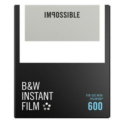 Impossible Black and White Instant Film for Polaroid 600 - 8 Pack