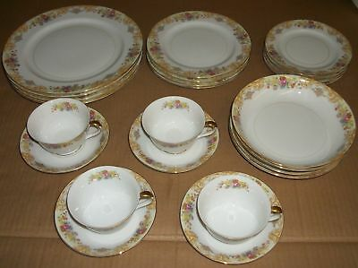 Lot of 24 NORITAKE Imperial China GOLD ROSE 4-Place Setting NO SCRATCHES