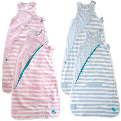 2pk Love To Dream Baby Sleeping Bags Cotton 4-12 Months Unisex Swaddle Sacks