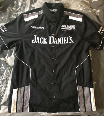 Jack Daniel's Racing Shirt Size L With Nissan/nismo/and Jack Daniel's Embroiders