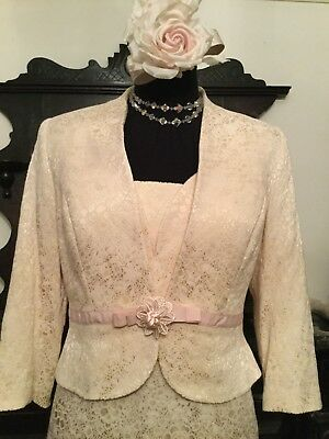 Veromia Mother Of The Bride Wedding Lace Effect Outfit Suit Jackie O Style 14