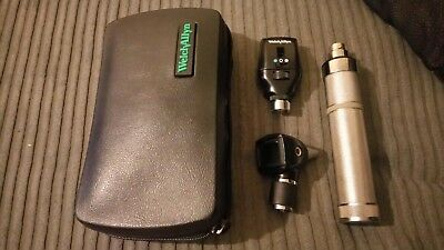 Welch allyn 3.5v hal coaxial ophth/oto set otoscope *great condition*