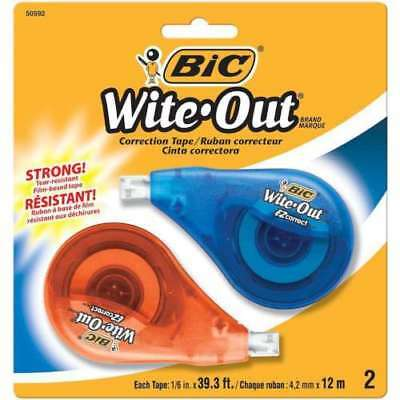 Bic Wite-Out Correction Tape, Lot Of 4, Strong, Tear-Resistant