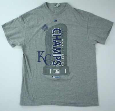 lowest price ceef8 d2d2e KANSAS CITY ROYALS 2015 World Series Champions Locker Room Shirt Large MLB