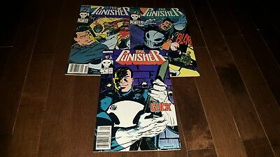 The Punisher #3 #4 #5 ( 1987-1988, Marvel) VF+/NM-.......BEAUTIES!!!!!