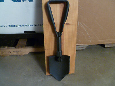 10 AMES Military Entrenching Tool Trifold Shovel E-Tool with Carriers