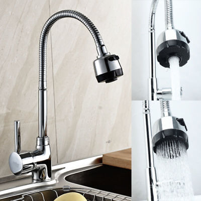 Chrome Kitchen Swivel Pull Out Mixer Tap Sink Basin Bathroom Tap Spout Hot Cold