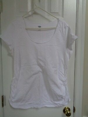 Old Navy maternity white short sleeve top, XL