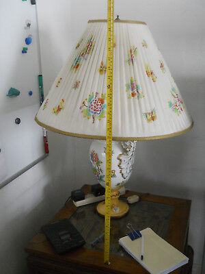 Huge Antique Very Old Vintage Hungarian Herend QUEEN VICTORIA LAMP with shade