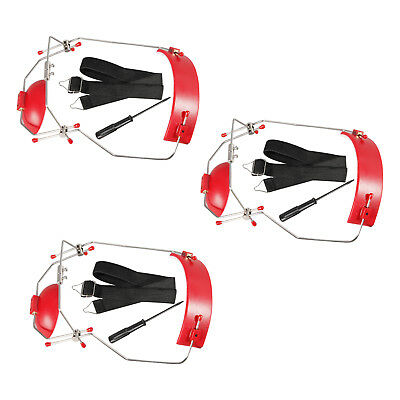 3pc Dental Orthodontic Adjustable Reverse-Pull Headgear Red Color