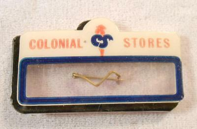 Vintage Celluloid Employee Name Badge - Colonial Grocery Store - Whitehead-Hoag