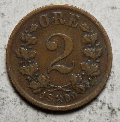 Norway 1899 2 Ore Coin