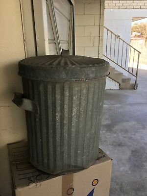 Vintage Willow Trash Can