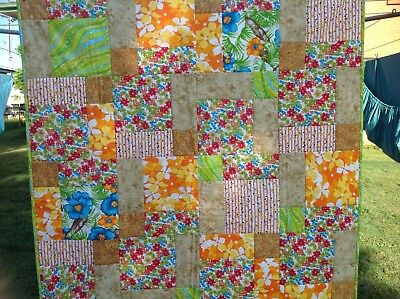 Handmade Patchwork Quilt 'Spring Flowers'