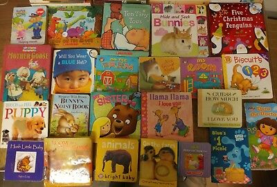 Lot of 40 Board Toddler Hardcover Picture DayCare Kid Child Books - UNSORTED G57