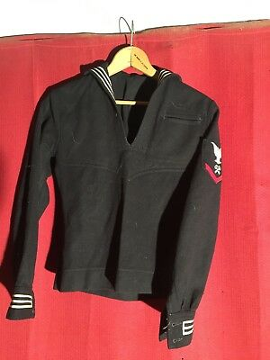 wwii us navy store keepers 3rd class dress blue jumper ( wwii army usmc )