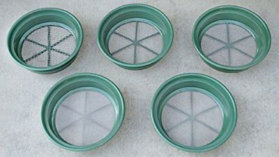 "Sieve Set 13-1/4"" Stackable Sifting Pans 5-Piece Mining Equipment Tools Patio"