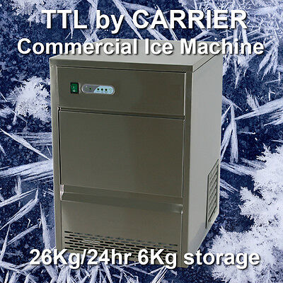 TTL Carrier Commercial Undercounter Ice Cube Maker Machine 26Kg/24hrs