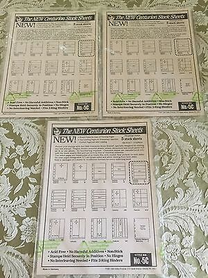 G & K Stamp Stock Sheets #5C ~ Lot of 3 Packs, 5 in Pack ~ Clear ~ Sealed