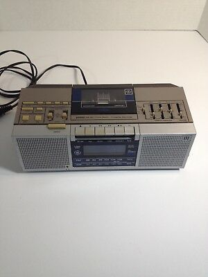 GE General Electric Model 7 - 4965A Stereo FM/AM/Clock Radio Cassette Recorder