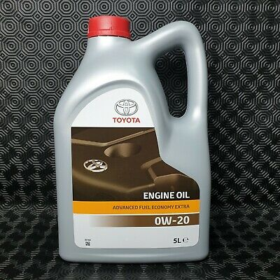 Genuine Toyota Prius / Prius + Engine Oil 0W20 Fully Synthetic 5L Sealed Bottle