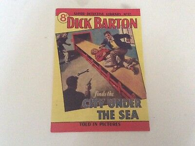 Super Detective Library No.12  DICK BARTON Facsimile edition Mint