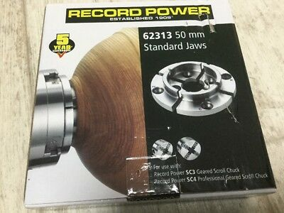 Record Power 62313 50mm Jaws Fit RP Sc3 SC4 Nova Patriot woodturning wood lathe