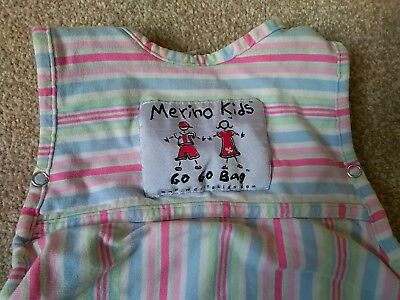 Merino Kids Go Go Sleeping Bag/Grobag 0-2 years 0-24 Months - Good Condition