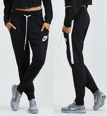 NEU NIKE TRAININGSHOSE Damen N98 Hose Regular Sporthose GYM Cuffed Jogginghose