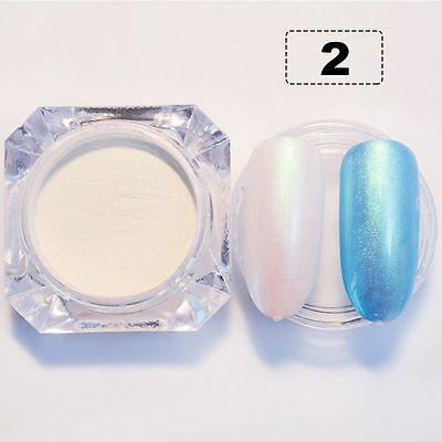 2g/Box BORN PRETTY Nail Art Glitter Pearl Effect Powder Dust  Shining