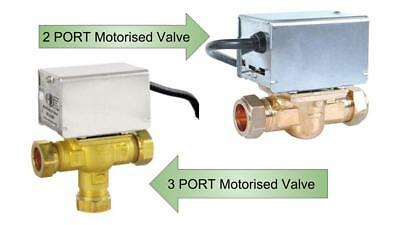 2 Port & 3 Port Motorised Heating Valve Replaces Honeywell Zone Valve Head 22mm