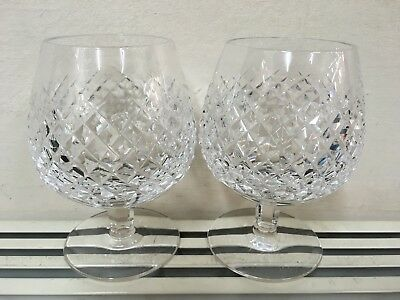 Pair of Waterford Crystal Alana brandy glasses.