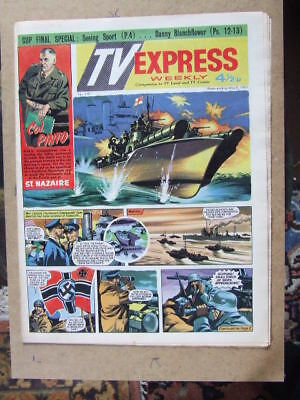 TV Express No 340 (1961). Incl Biggles full colour comic strip serial.