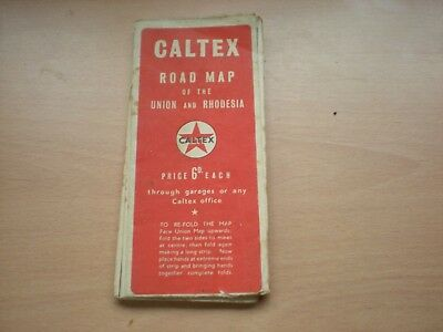 An Old Caltex Road Map Of The Union & Rhodesia