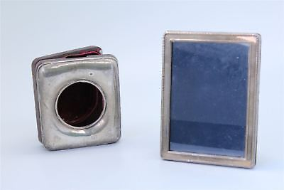 Lot of 2 x Vintage / Antique HALLMARKED STERLING SILVER Photograph Frames 291g