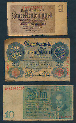 Germany: 1908-1937 COLLECTION of 6 different plus extra. Nice starter lot