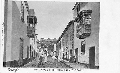 Tarjeta Postal. Tenerife. Orotava, Grand Hotel from the port.
