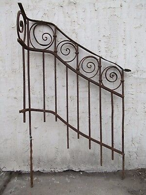 Antique Victorian Iron Gate Window Garden Fence Architectural Salvage Door #0102