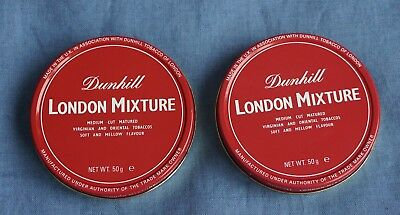 Sammlerstücke - 2 x dunhill London Mixture - collectible pipe tobacco tins