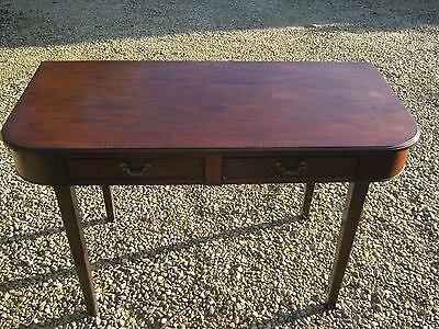 19C Georgian Mahogany Regency Console/hall/writing Table/desk