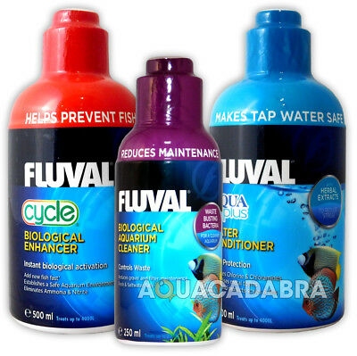 Fluval Cycle, Aqua Plus, Biological Aquarium Cleaner Treatment Bundle Deal Fish