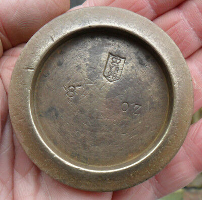 Antique Victorian Brass Weight - 8 oz London County
